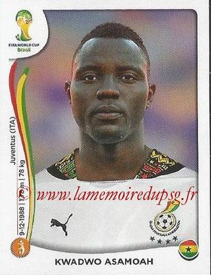2014 - Panini FIFA World Cup Brazil Stickers - N° 536 - Kwadwo ASAMOAH (Ghana)