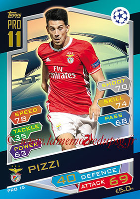 2016-17 - Topps UEFA Champions League Match Attax - N° PRO15 - PIZZI (SL Benfica) (Pro 11)