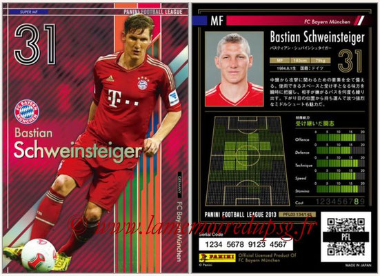 Panini Football League 2013 - PFL03 - N° 134 - Bastian Schweinsteiger (Bayern Munich) (Super MF)