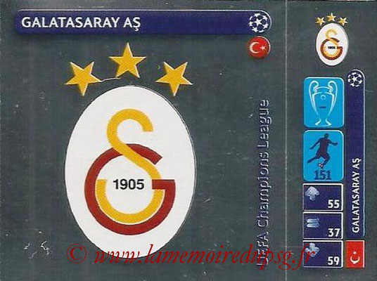 2014-15 - Panini Champions League N° 019 - Logo Galatasaray AS