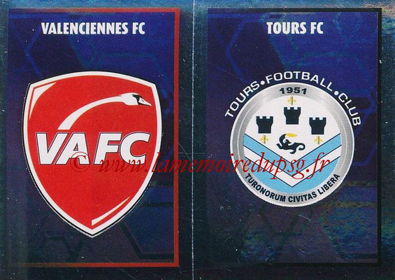 2017-18 - Panini Ligue 1 Stickers - N° 568 - Ecussons Tours FC + Valenciennes FC