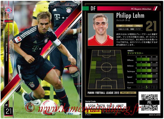 Panini Football League 2013 - PFL01 - N° 124 - Philipp Lahm ( FC Bayern Munchen )