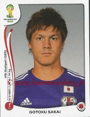 2014 - Panini FIFA World Cup Brazil Stickers - N° 248 - Gotoku SAKAI (Japon)