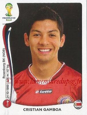 2014 - Panini FIFA World Cup Brazil Stickers - N° 284 - Cristian GAMBOA (Costa Rica)