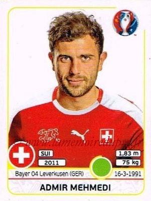 Panini Euro 2016 Stickers - N° 118 - Admir MEHMEDI (Suisse)