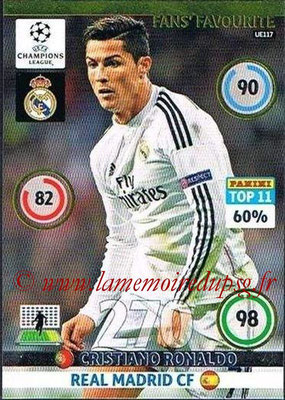 2014-15 - Adrenalyn XL champions League Update edition N° UE117 - Cristiano RONALDO (Real Madrid) (Fans' Favourite)