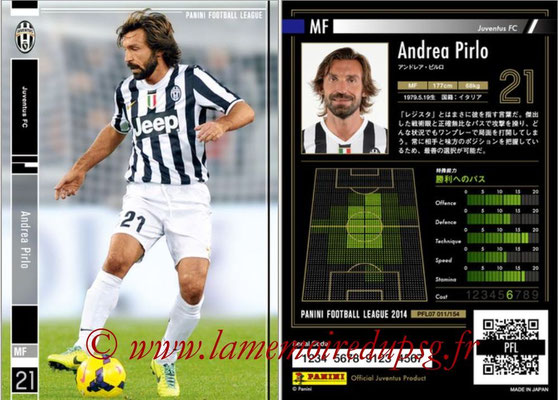 Panini Football League 2014 - PFL07 - N° 011 - Andrea PIRLO (Juventus FC)