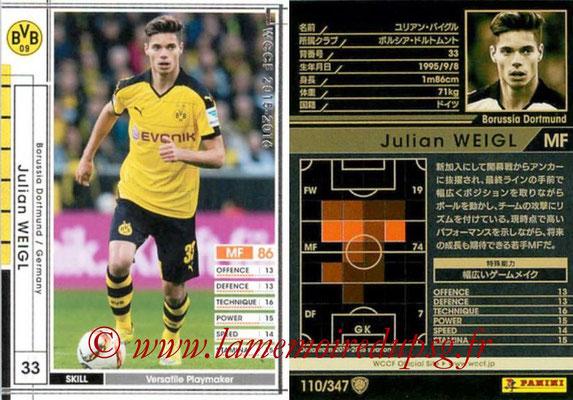 2015-16 - Panini WCCF - N° 110 - Julian WEIGL (Borussia Dortmund)