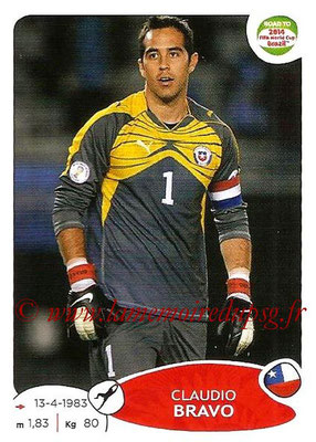 2014 - Panini Road to FIFA World Cup Brazil Stickers - N° 159 - Claudio BRAVO (Chili)