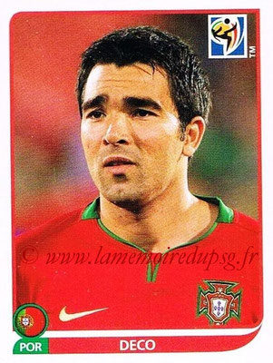 2010 - Panini FIFA World Cup South Africa Stickers - N° 556 - DECO (Portugal)