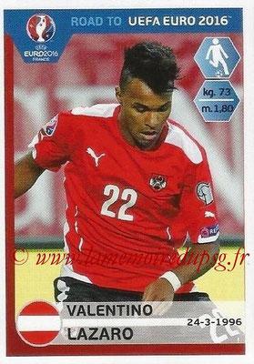 Panini Road to Euro 2016 Stickers - N° 200 - Valentino LAZARO (Autriche)