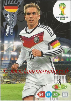 2014 - Panini FIFA World Cup Brazil Adrenalyn XL - N° 107 - Philipp LAHM (Allemagne)