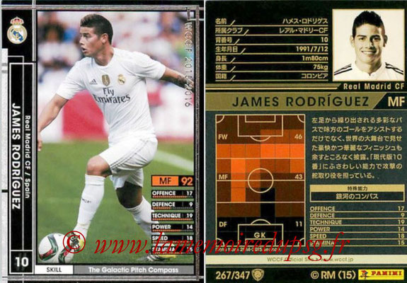 2015-16 - Panini WCCF - N° 267 - James RODRIGUEZ (Real Madrid CF)