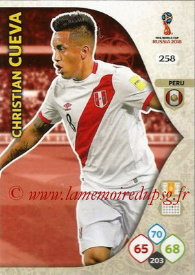 2018 - Panini FIFA World Cup Russia Adrenalyn XL - N° 258 - Christian CUEVA (Perou)