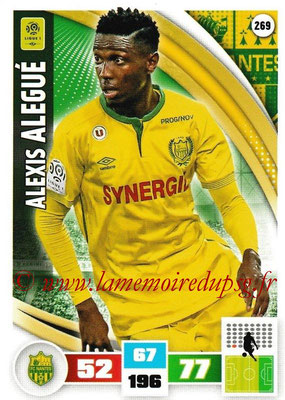 2016-17 - Panini Adrenalyn XL Ligue 1 - N° 269 - Alexis ALEGUE (Nantes)