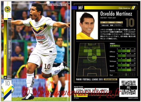 Panini Football League 2013 - PFL02 - N° 125 - Osvaldo Martinez ( Club America )