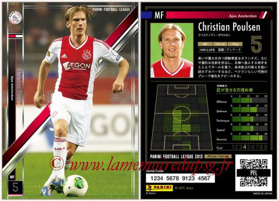 Panini Football League 2013 - PFL04 - N° 116 - Christian POULSEN (Ajax Amsterdam)