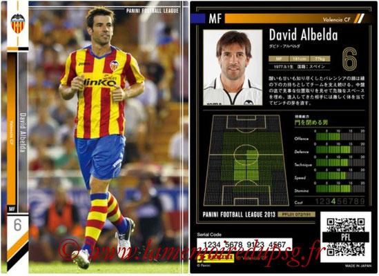Panini Football League 2013 - PFL01 - N° 072 - David Albelda ( Valencia CF )