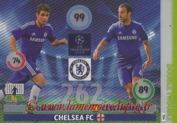 2014-15 - Adrenalyn XL champions League N° 354 - OSCAR et Cesc FABREGAS (Chelsea FC) (Double Trouble)