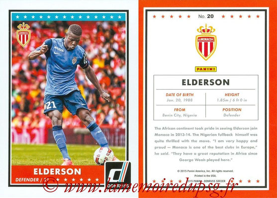 2015 - Panini Donruss Soccer - N° 020 - ELDERSON (AS Monaco)