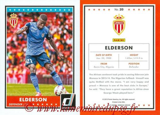 2015 - Panini Donruss Soccer - N° 020 - ELDERSON (AS Monaco)