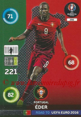Panini Road to Euro 2016 Cards - N° 256 - EDER (Portugal) (One to Watch)