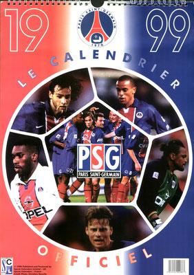 Calendrier PSG 1999