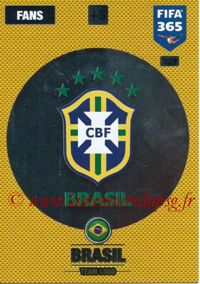 2016-17 - Panini Adrenalyn XL FIFA 365 - N° 329 - Logo Brésil (Club Badge)