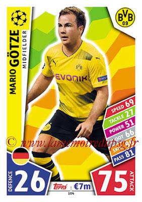 2017-18 - Topps UEFA Champions League Match Attax - N° 104 - Mario GÔTZE (Borussia Dortmund)