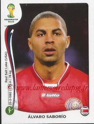 2014 - Panini FIFA World Cup Brazil Stickers - N° 297 - Alvaro SABORIO (Costa Rica)