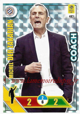 2017-18 - Panini Adrenalyn XL Ligue 1 - N° 483 - Michel DER ZAKARIAN (Montpellier) (Coach)