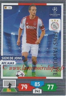 2013-14 - Adrenalyn XL champions League N° 289 - Siem DE JONG (AFC Ajax) (Fans' Favourite)