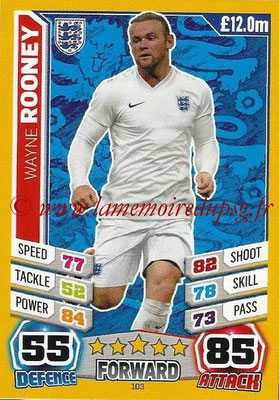 Topps Match Attax England 2014 - N° 103 - Wayne ROONEY (Angleterre)