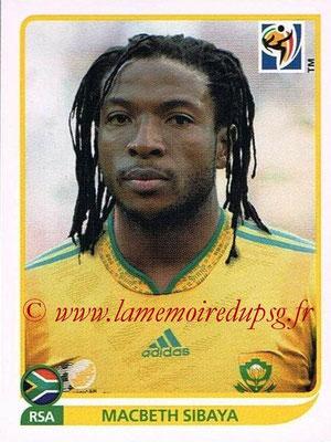 2010 - Panini FIFA World Cup South Africa Stickers - N° 039 - Macbeth SIBAYA (Afrique du Sud)