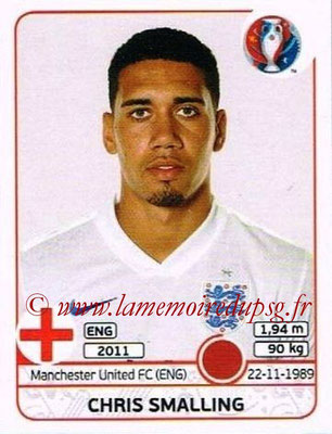 Panini Euro 2016 Stickers - N° 131 - Chris SMALLING (Angleterre)