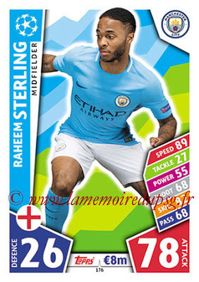 2017-18 - Topps UEFA Champions League Match Attax - N° 176 - Raheem STERLING (Manchester City FC)