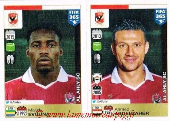2015-16 - Panini FIFA 365 Stickers - N° 307-308 - Malick EVOUNA + Ahmed ABDELZAHER (Al Ahly SC)