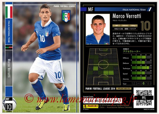 Panini Football League 2014 - PFL08 - N° 140 - Marco VERRATTI (Italie)