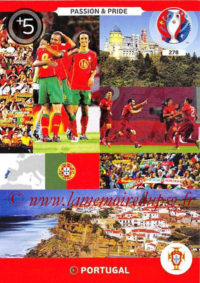 Panini Euro 2016 Cards - N° 278 - Passion and Pride du Portugal