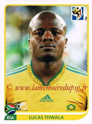 2010 - Panini FIFA World Cup South Africa Stickers - N° 037 - Lucas THWALA (Afrique du Sud)