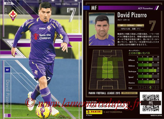 Panini Football League 2015 - PFL12 - N° 023 - David PIZARRO (ACF Fiorentina) (Star)
