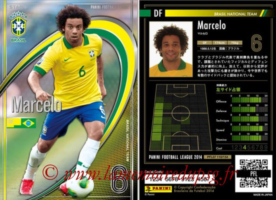 Panini Football League 2014 - PFL07 - N° 110 - MARCELO (Bresil)