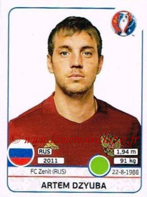 Panini Euro 2016 Stickers - N° 179 - Artem DZYUBA (Russie)