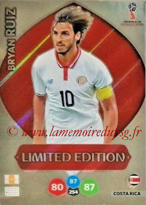 2018 - Panini FIFA World Cup Russia Adrenalyn XL - N° LE-BR - Bryan RUIZ (Costa Rica) (Limited Edition)