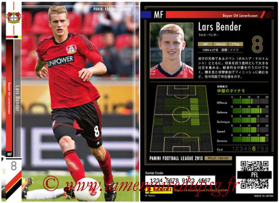 Panini Football League 2013 - PFL01 - N° 150 - Lars Bender ( Bayer 04 Leverkusen )