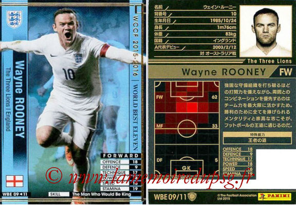 2015-16 - Panini WCCF - N° WBE09 - Wayne ROONEY (Angleterre) (World Best Eleven)