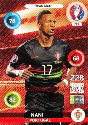 Panini Euro 2016 Cards - N° 273 - NANI (Portugal)