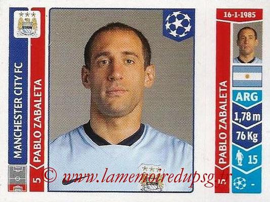 2014-15 - Panini Champions League N° 364 - Pablo ZABALETA (Manchester City FC)