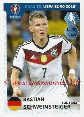Panini Road to Euro 2016 Stickers - N° 057 - Bastian SCHWEINSTEIGER (Allemagne)