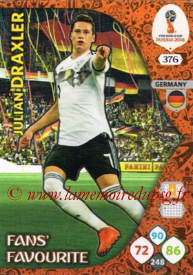 N° 376 - Julian DRAXLER (Janv 2017-??, PSG > 2018, Allemagne) (Fans' Favourite)